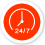 24-uurs service icoon